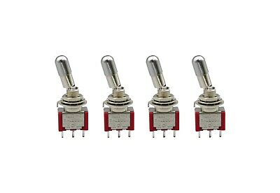 5Pcs T8013-LK Mini Toggle Switch Locking Lever 6Pin ON-ON 2Position SPDT