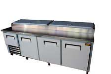 96 New Us Made Three And Half Door Refrigerated Pizza Salad Prep Table Ss Top