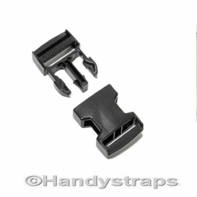 100 x 20mm Plastic Side Release Buckles for webbing  Quick Release Buckles Clip