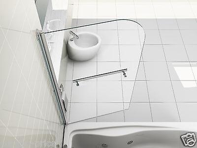 6mm Glass Over Bath Shower Screen Door Panel NEW DESIGN