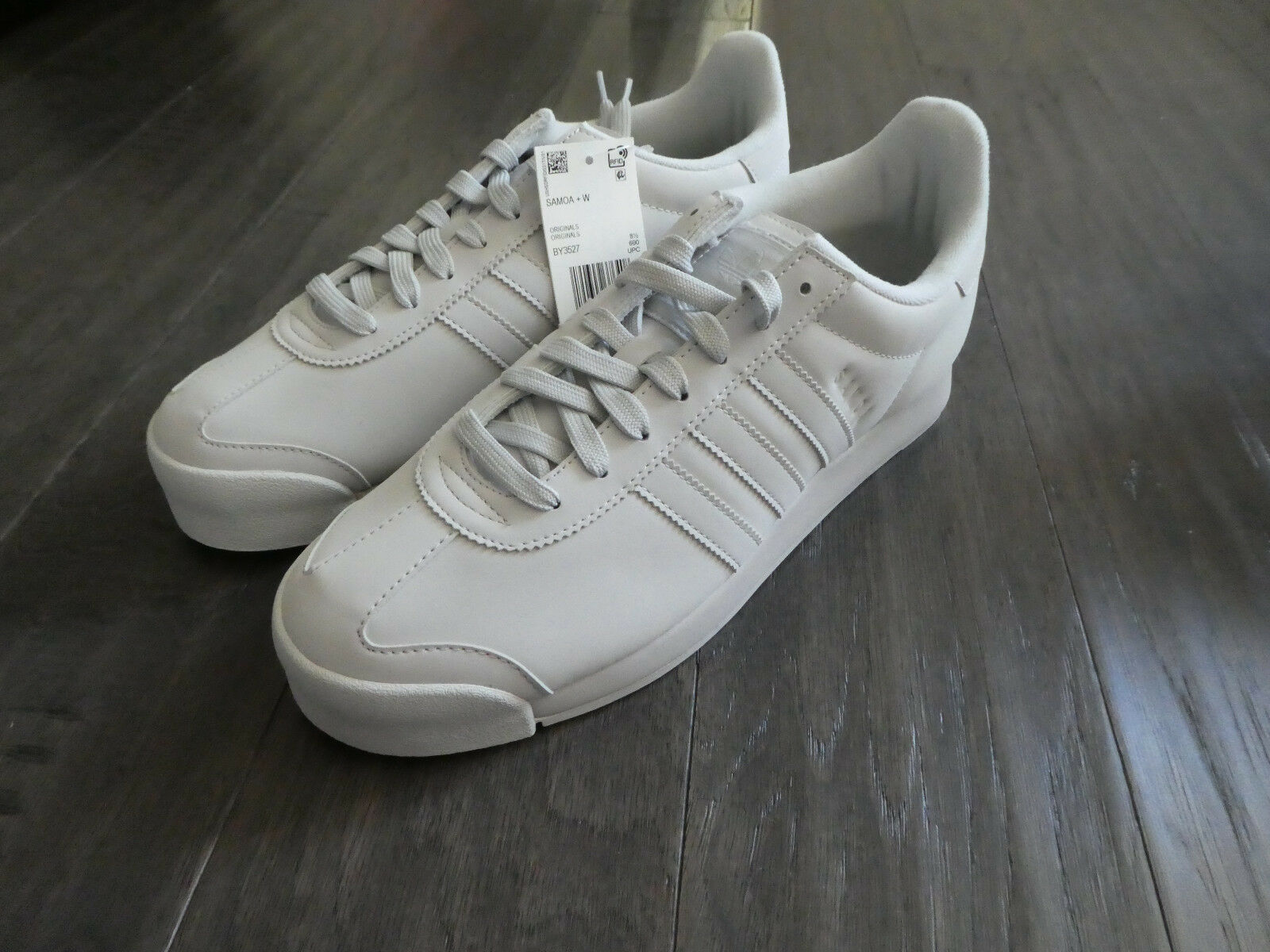 Adidas Women's Samoa + W shoes sneakers new BY3527 Grey Greone