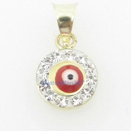 womens bp113 kabbalah evil eye 14k solid yellow gold good luck charm pendant