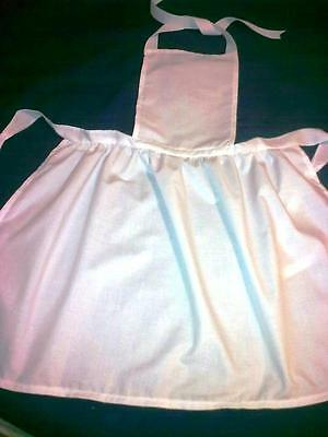 ADULTS WHITE COTTON VICTORIAN STYLE APRON-5 LENGTHS-MAIDS-NURSES-ALICE FANCYDRES