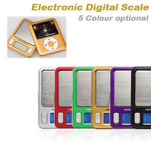 Electronic Digital Mini Pocket Weighing Scale Nano Mp3 LCD Display 100g x 0.01g