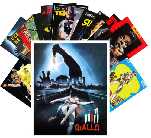 Giallo Slasher WIP Retro Trash Horror Film Plakat CC1067 24 Postkarten Set