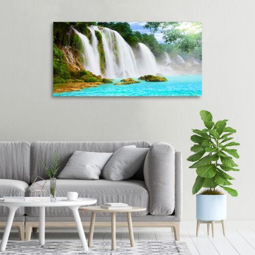 Glas-Bild Wandbilder Druck auf Glas 100x50 Deko Landschaften Wasserfall