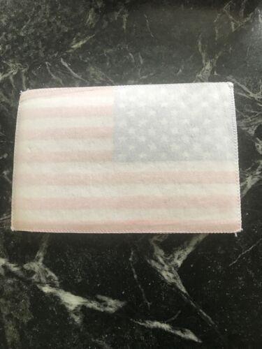 "Vtg 6"" X 9"" American Flag Patch Felt Star Stripes Sew On USA America 80s Jacket"