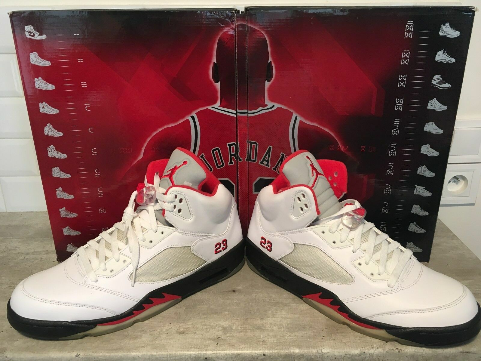 Nike Air Jordan Retro 5 pack collezione 12.5 47 47 47 aaef94