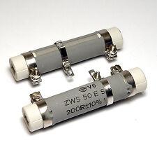 2x Draloric Draht-Widerstand 200R, einstellbar per Schelle, 50W, Typ ZWS 50 ESS
