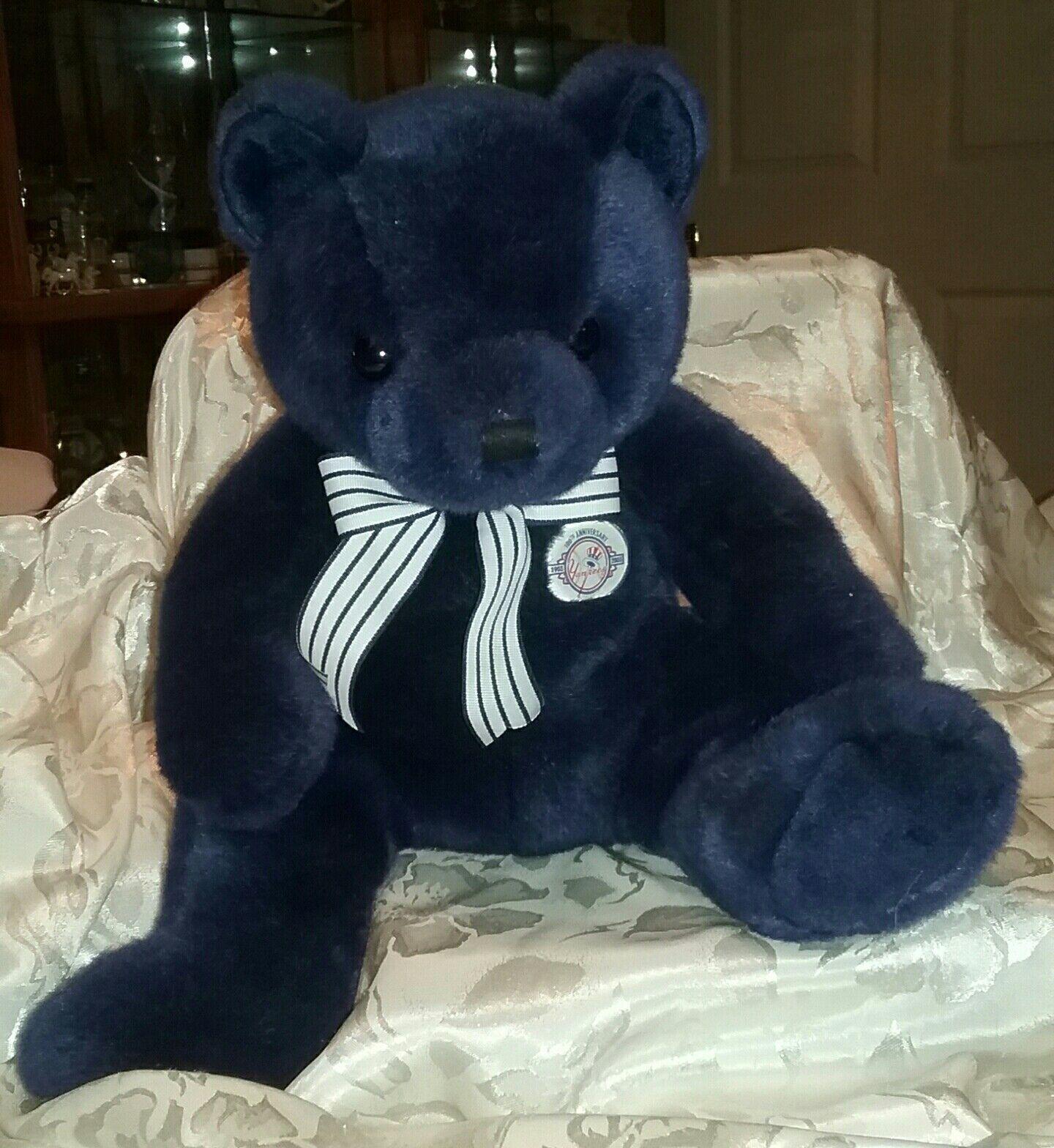 Ty New York Yankees 100th Anniversary Bear 15  Plush Soft Toy Stuffed Animal