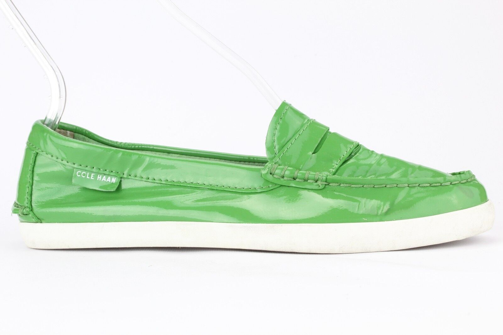 Cole Haan Women's Green Leather Pinch Slip-on Loafer Size 7.5