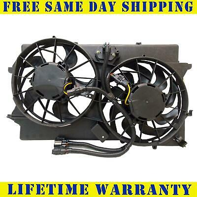 Dual Radiator /& Condenser Fan Assembly Fits 2000-2002 Ford Focus L4 2.0L