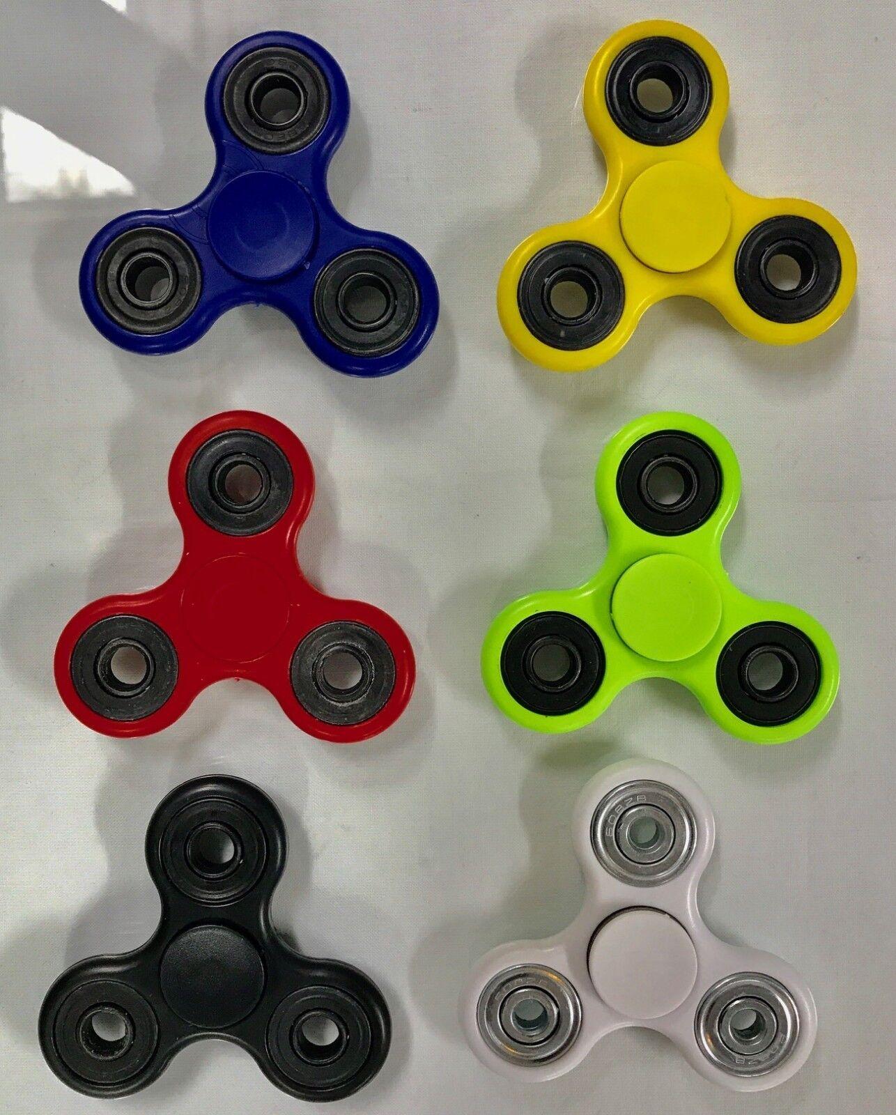 10-Qty Tri-Spinner Fidget Toy Hand Finger Spinner Multiple Colorees-USA Seller