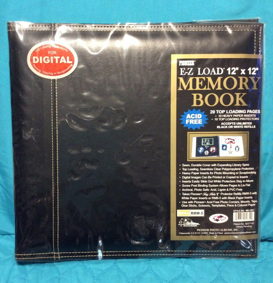 "Pioneer European Leather E-Z Load Memory Book 12/""x 12/"" acid free"
