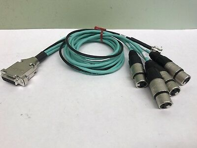 Neutrik Audio cable 15 Pin female to 4XLR Female  and 1 BNC Male Audio Cable 3/'