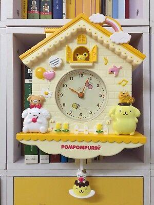 Hello Kitty Swing Clock Wall Clock W//T Pendulum Home Decoration Girl Best Gift