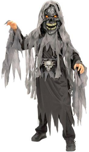 Boys Evil Skull Zombie Horror Halloween Fancy Dress Costume Outfit 3-10 years