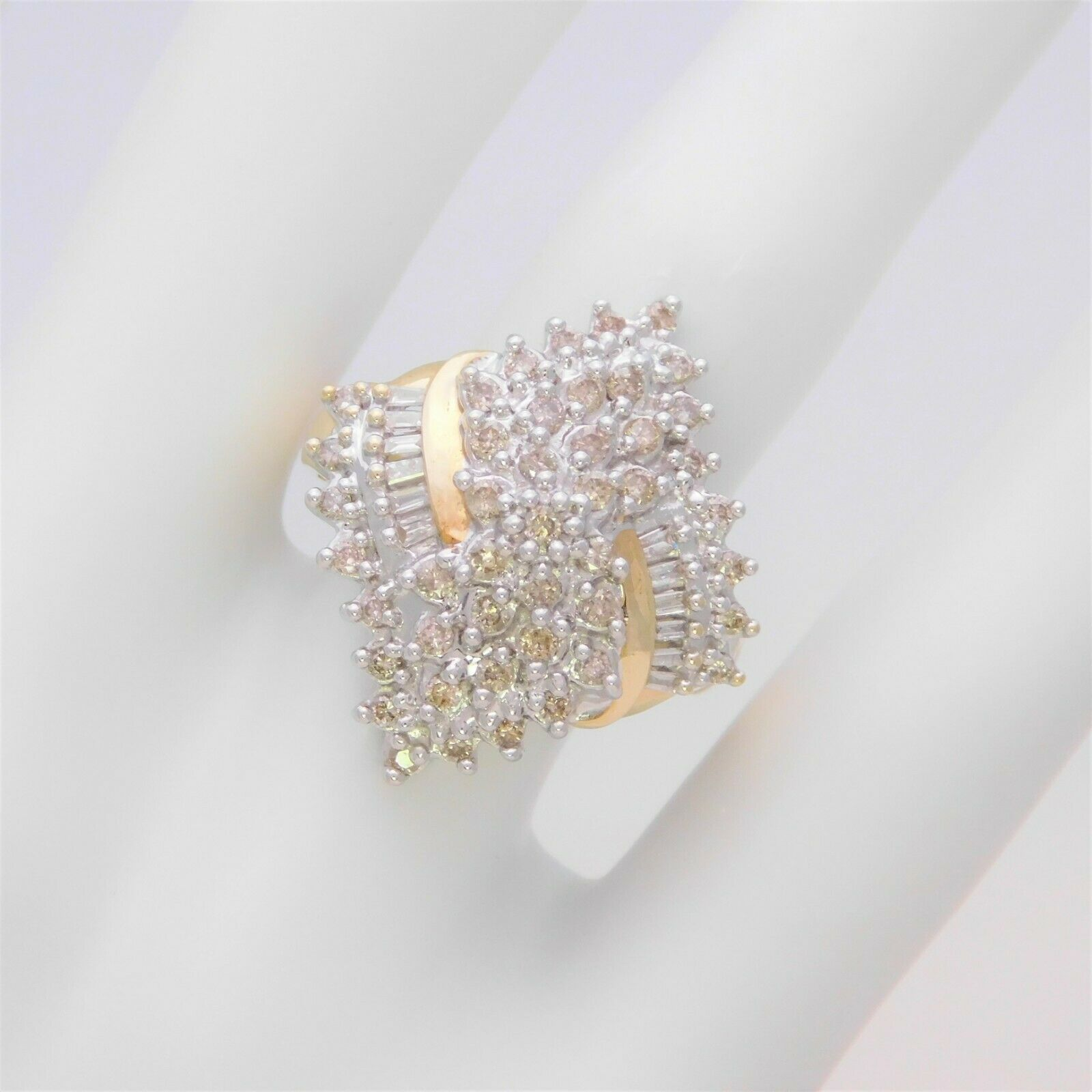 526ab9934 Vintage Round and Cluster Ring Diamond Baguette ntupqe2895-Rings ...
