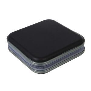 40-CD-DVD-Disc-Storage-Carry-Case-Cover-Holder-Bag-Hard-Box-Black-W2Z8