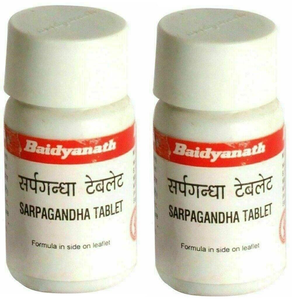 Baidyanath Sarpagandha Hebs for Blood Pressure & Insomnia 50TabX2 - 50TabX10 1