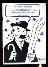 CATALOGUE VENTE BD ENCHERES  LAVAL 20/02/1994  couverture DUPONT Par BOB DE MOOR