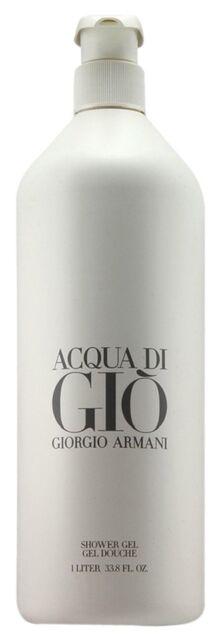Giorgio Armani Acqua Di Gio Shower Gel 1 L./33.8Oz LIMITED EDITION Brand New