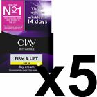 5 x Olay Anti-Wrinkle Firm & Lift SPF 15 Anti-Ageing Day Cream Moisturiser 50ml