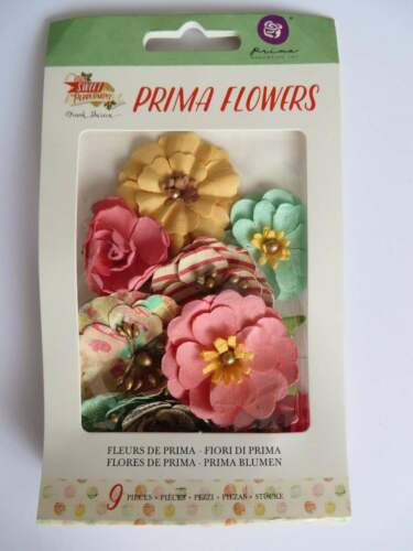 Prima Marketing Sweet Peppermint Crafting Flowers
