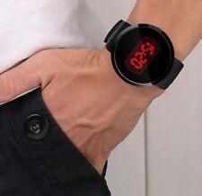 Reloj de Pulsera para Hombre Impermeable Pantalla Táctil LED De Silicona Negro