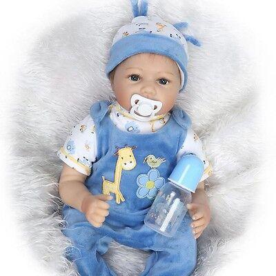 Handmade Lifelike Baby Reborn Boy Doll Silicone Vinyl Newborn Girl Dolls 22''