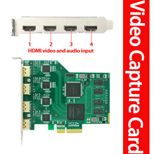 Details about Quad HDMI input 1080P@60fps OBS /VMix /PS4 Live streaming  video capture card