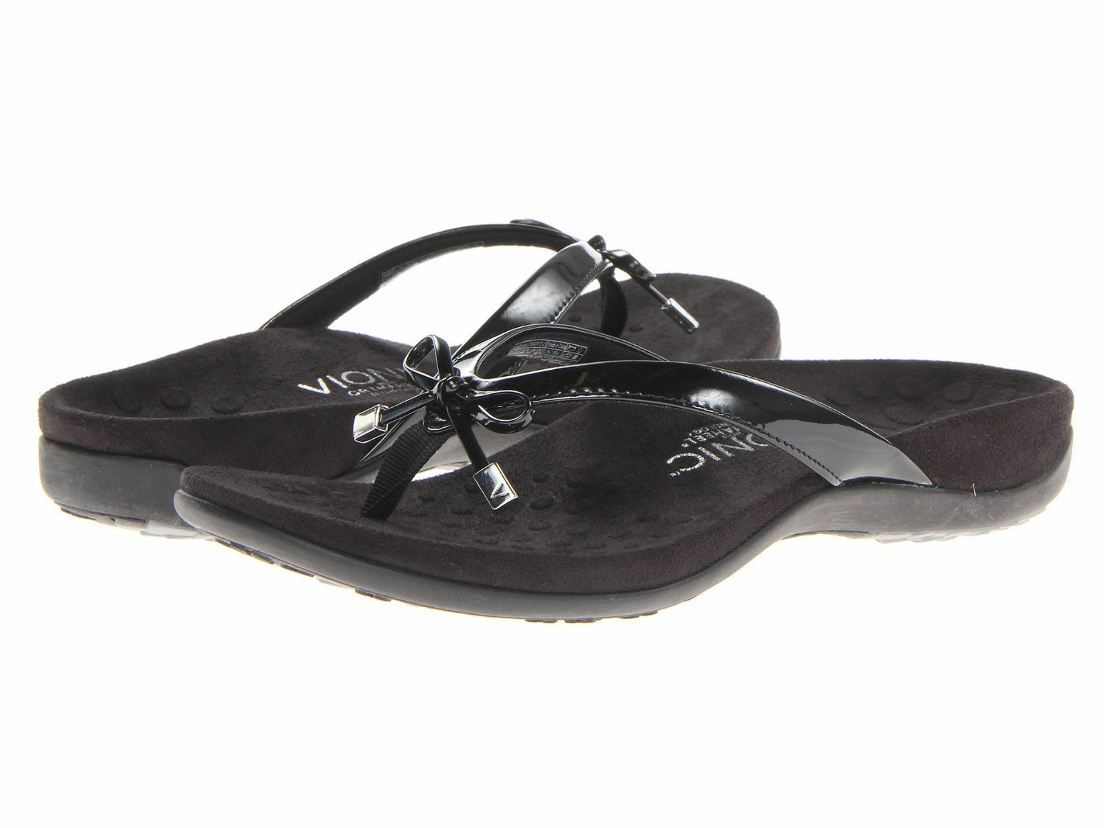 donna donna donna Vionic Orthaheel Bella II Flip Flop 44BELLAII nero 100% Authentic New f689e0