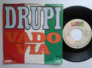 Drupi-Vado-Via-7-034-Vinyl-Single-1984-mit-Schutzhuelle