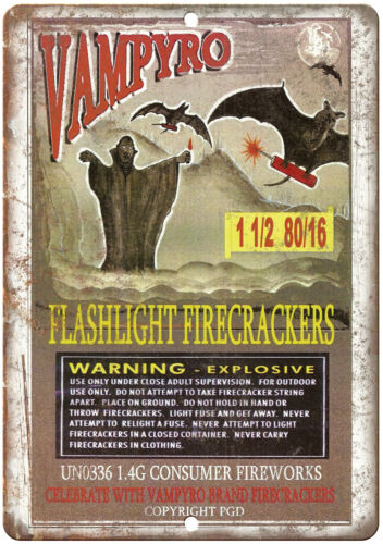 "Vampyro Firework Package Art 10/"" X 7/"" Reproduction Metal Sign ZD79"