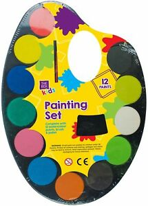 14pc-11-034-Palette-Watercolour-Paint-Play-Set-Toddlers-12-Assorted-Paint-Creative