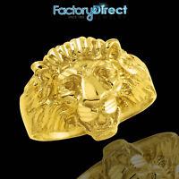 Men's Gold Lion Head Ring 10k 14k