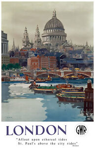 TU61-Vintage-London-St-Paul-039-s-GWR-Railways-Travel-Poster-Print-A2-A3