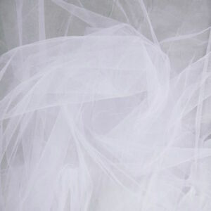 """35 Yards Roll White Tulle 100% Nylon Mesh 60"""" Wide Fabric"""