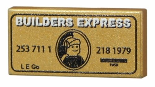 Builders express credit card tile to fit Lego minifigures