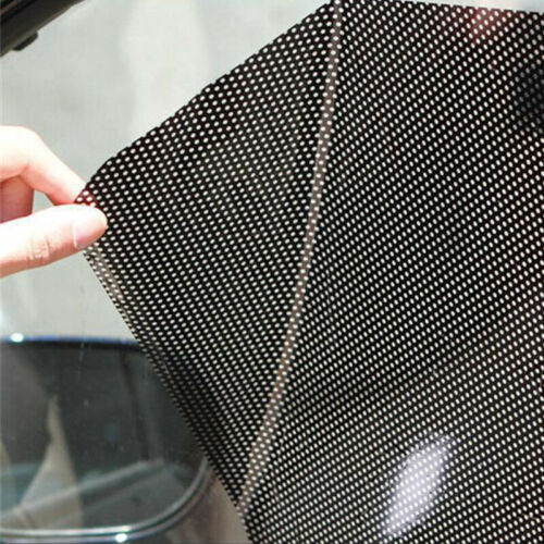 2X Reusable Car Side Window Sun Shade Shied Solar Mesh Film Sticker UV Protector