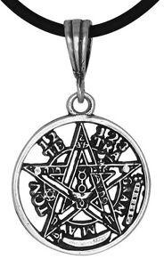 Sterling-Silver-Tetragrammaton-Pentagram-Pagan-Wiccan-Pendant-22mm-Made-in-USA