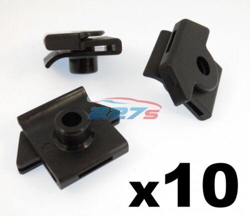 10x pare-chocs à montage aile en plastique Grommet Écrou pour vis-s/' adapte certains NISSAN