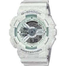 Mens Casio G-Shock Heather White Rubber Digital Chronograph Watch GA110HT-7A