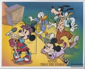 Unmounted Mint Never Hinged 1997 Walt-disney complete Issue Jade White Open-Minded Gambia Block345