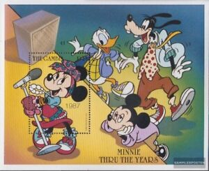 Unmounted Mint Jade White Never Hinged 1997 Walt-disney complete Issue Open-Minded Gambia Block345