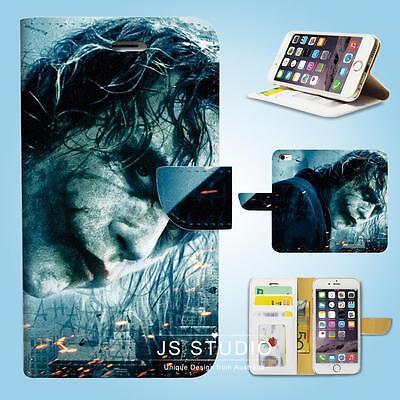 iPhone SE 6 6S 7 8 Plus 5 5S 5C 4 4S Wallet Case Cover Batman Joker W025