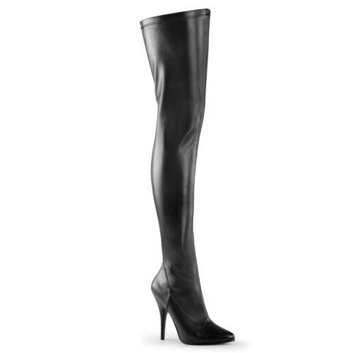 "PLEASER Seduce-3000 5/"" Heel Thigh-High Boots"