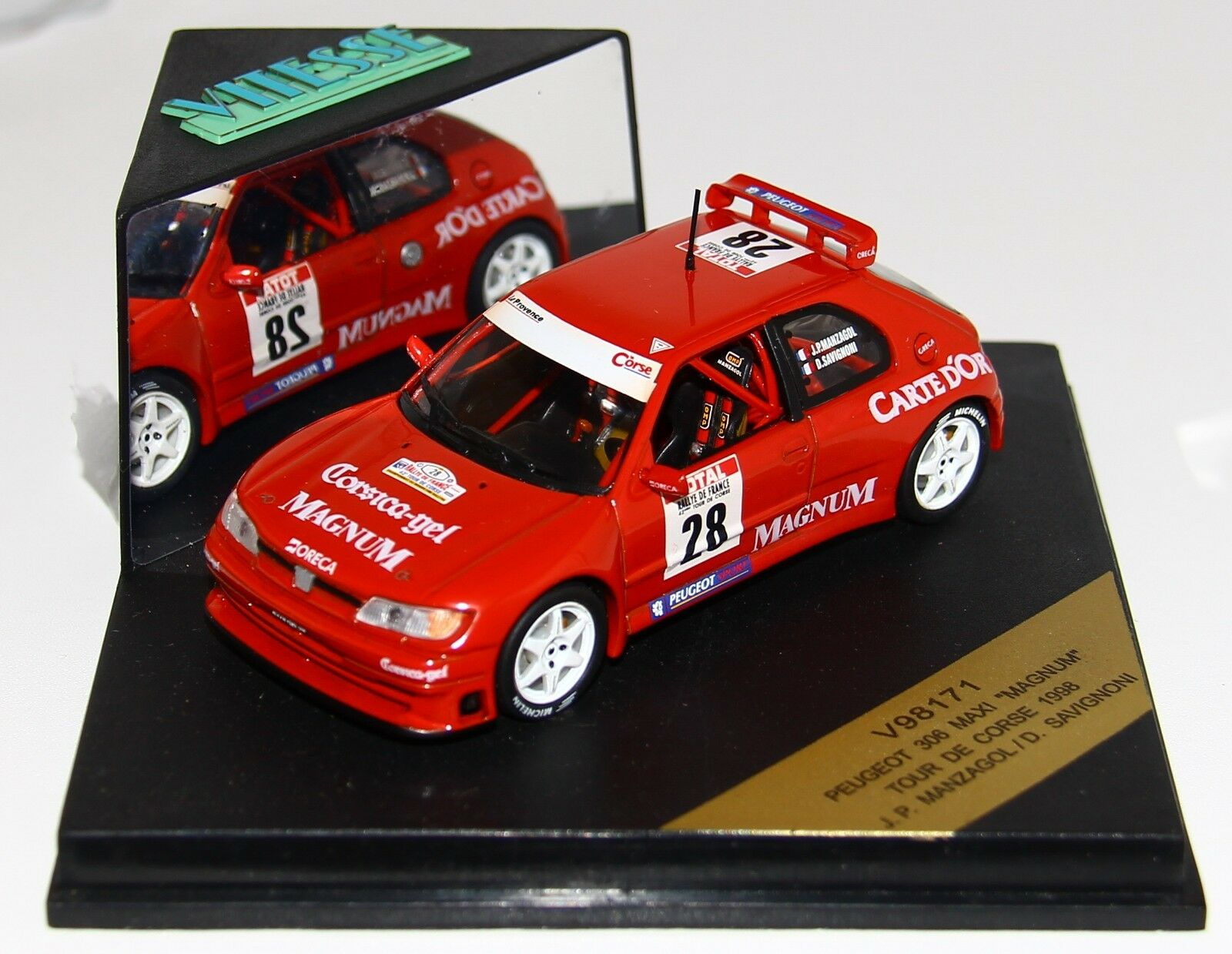 1/43 Vitesse V98171 V98171 V98171 Peugeot 306 Maxi Rallye Tour de Corse 1998 Femmezagol RARE | Outlet Store  e13634