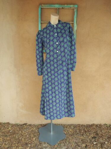 VTG 1930s Calico Feedsack Dress Cotton Dressing Go