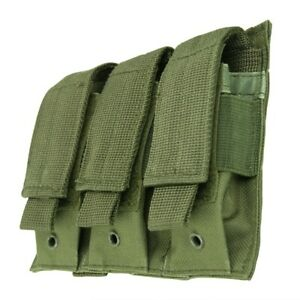VISM-Triple-Pistol-Magazine-Pouch-MOLLE-Tactical-Duty-Gear-Hunting-ODG